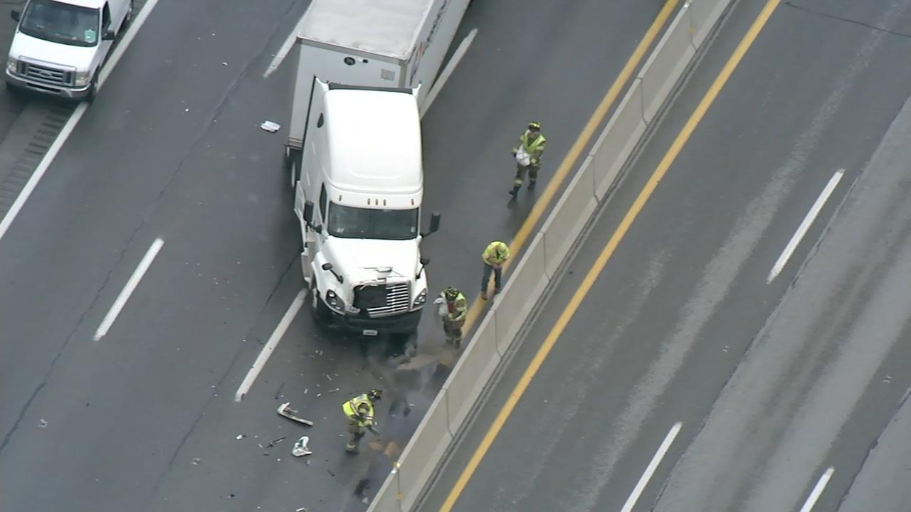 Chopper 6 video of crash on Pa. Turnpike