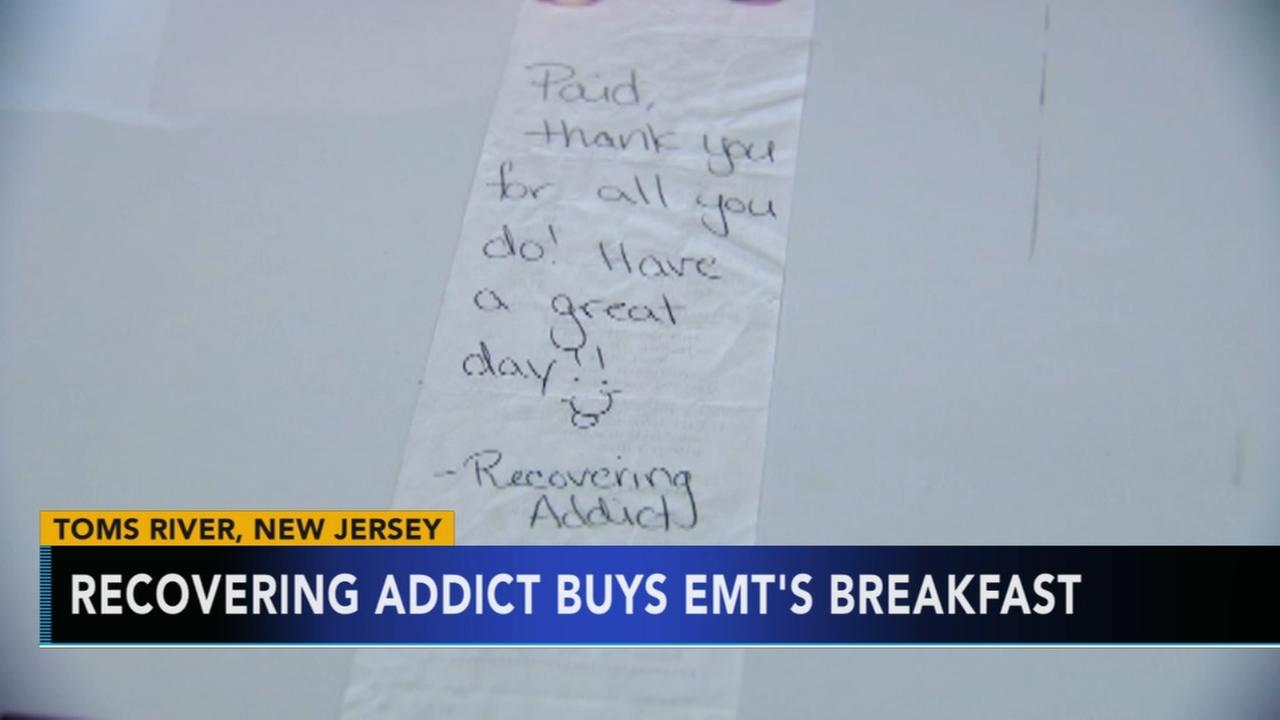 Recovering addict buys EMTs breakfast