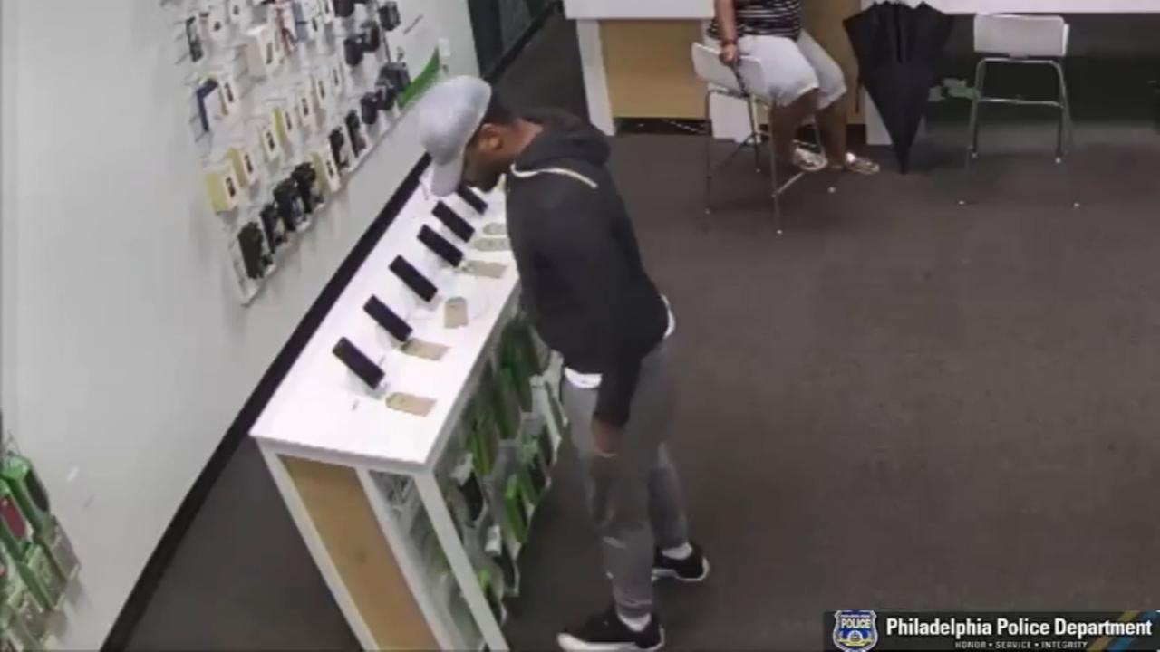 Police: Man caught on video robbing wireless store in Philly