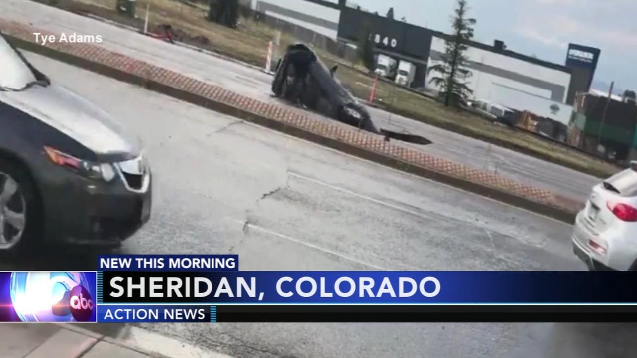 SUV swallowed up on Colorado street