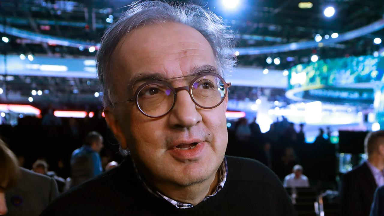 Fiat Chrysler Automobiles CEO Sergio Marchionne is interviewed during the North American International Auto Show, Tuesday, Jan. 16, 2018.