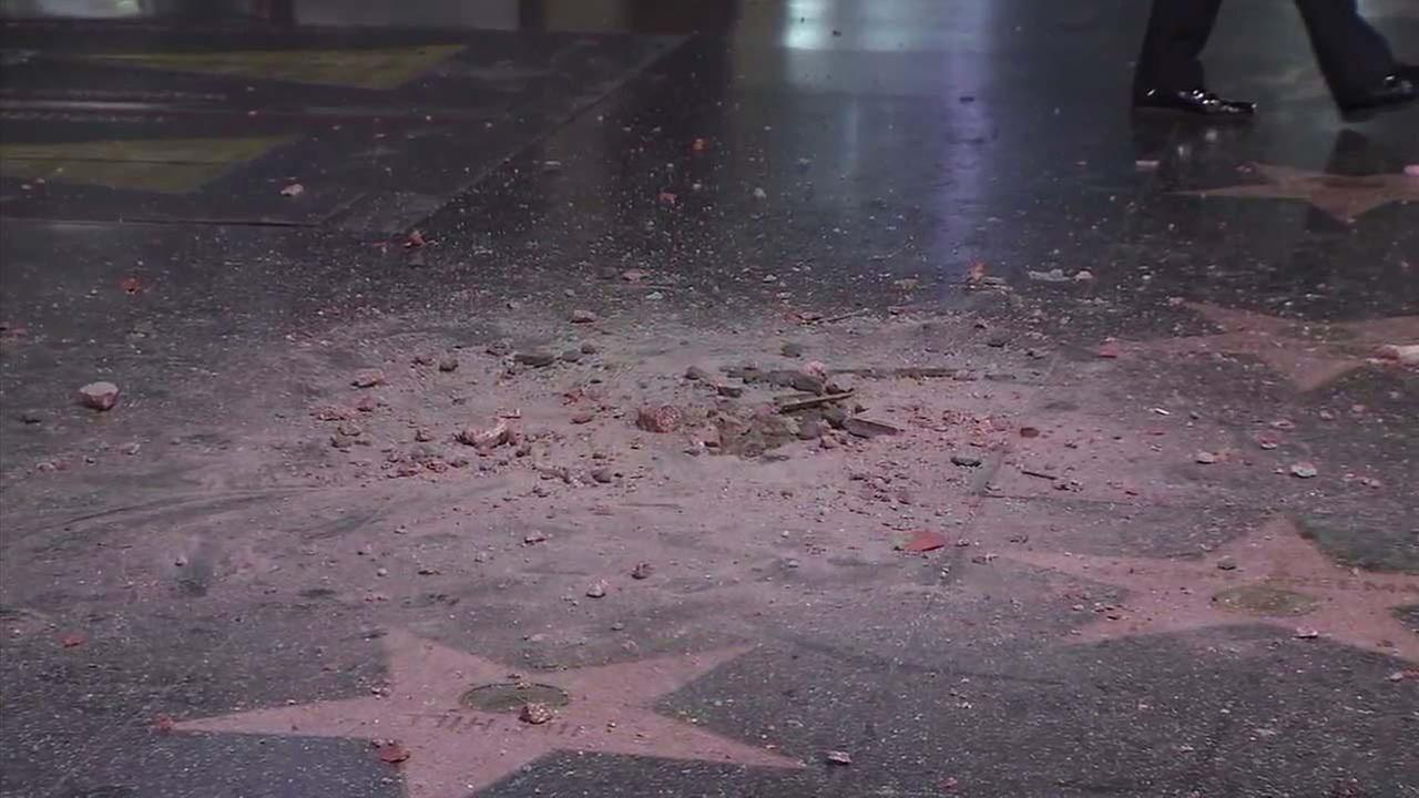 President Donald Trump's Hollywood Walk of Fame star vandalized