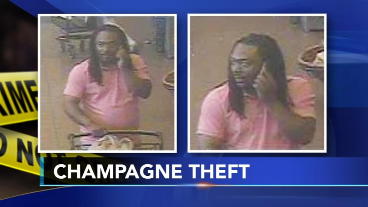 Suspect wanted or stealing bubbly from Wegmans in Collegeville