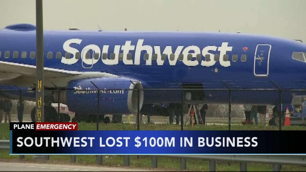 Southwest loses $100M in business