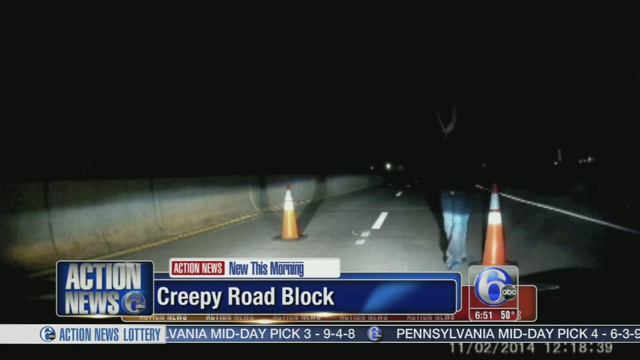 VIDEO: Fake road block caught on camera