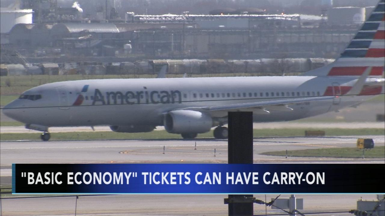American Airlines to include free carry-on luggage with basic economy tickets