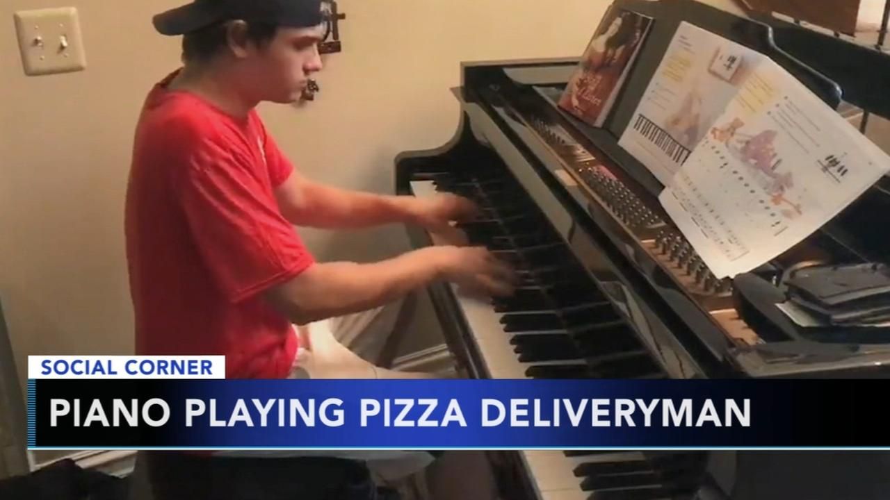 Piano playing pizza deliveryman goes viral after showing off amazing talent