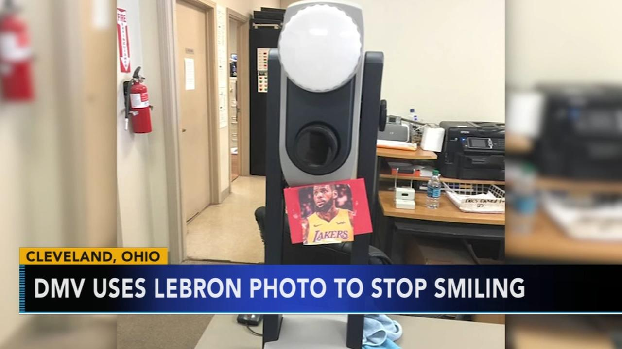 Cleveland DMV uses Lebron picture to get people to stop smiling in photos