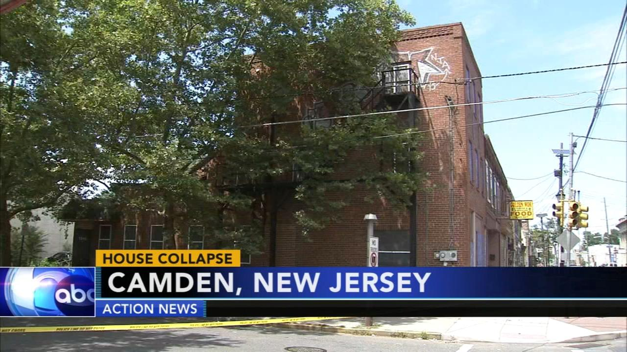 Vacant house partially collapses in Camden