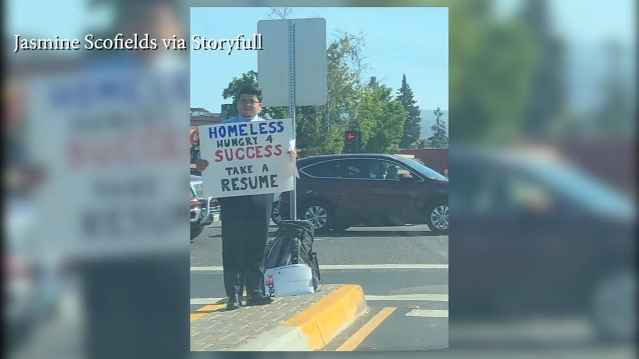 Homeless mans job hunt goes viral