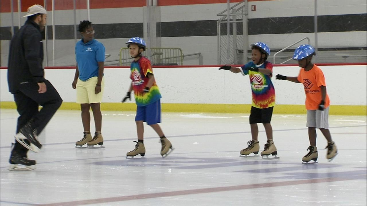 Dozens of campers spent the day on the ice