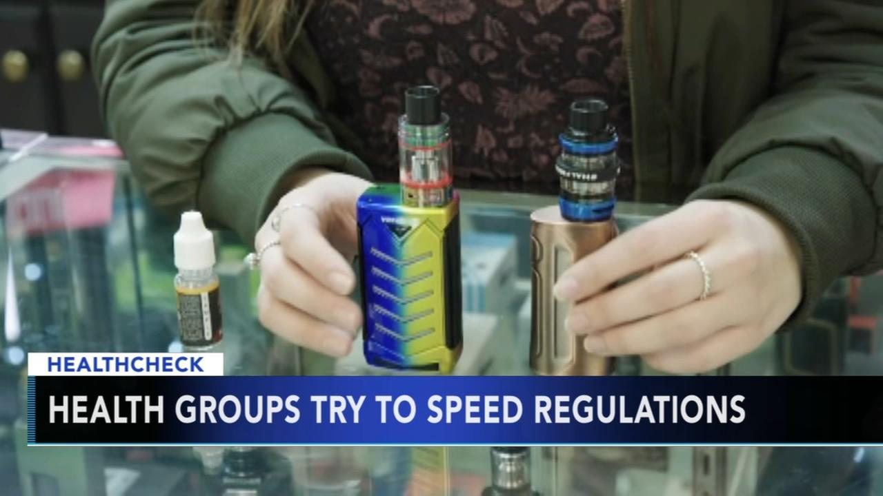 Health groups try to speed regulations for e-cigarettes