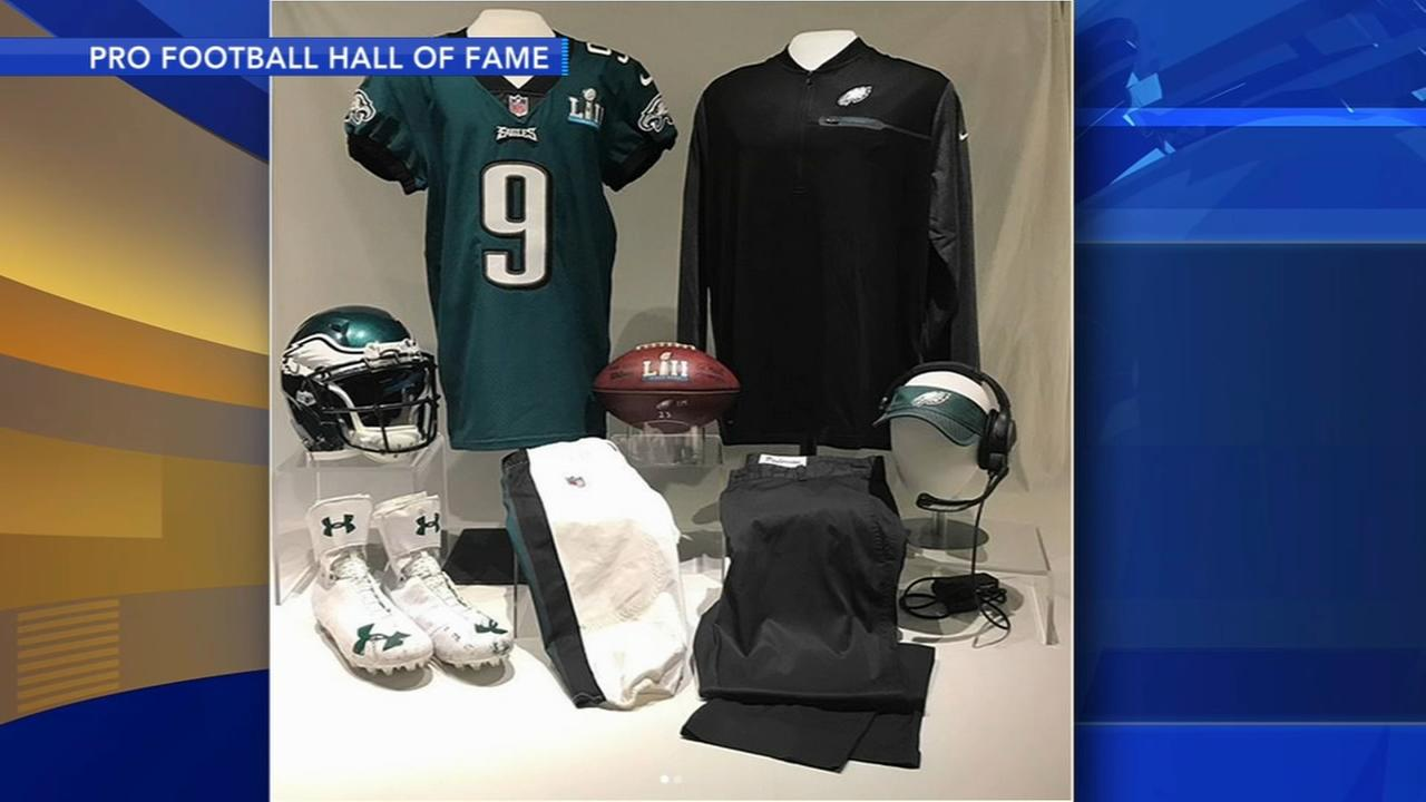 Some pieces of Eagles Super Bowl history are in Canton Ohio