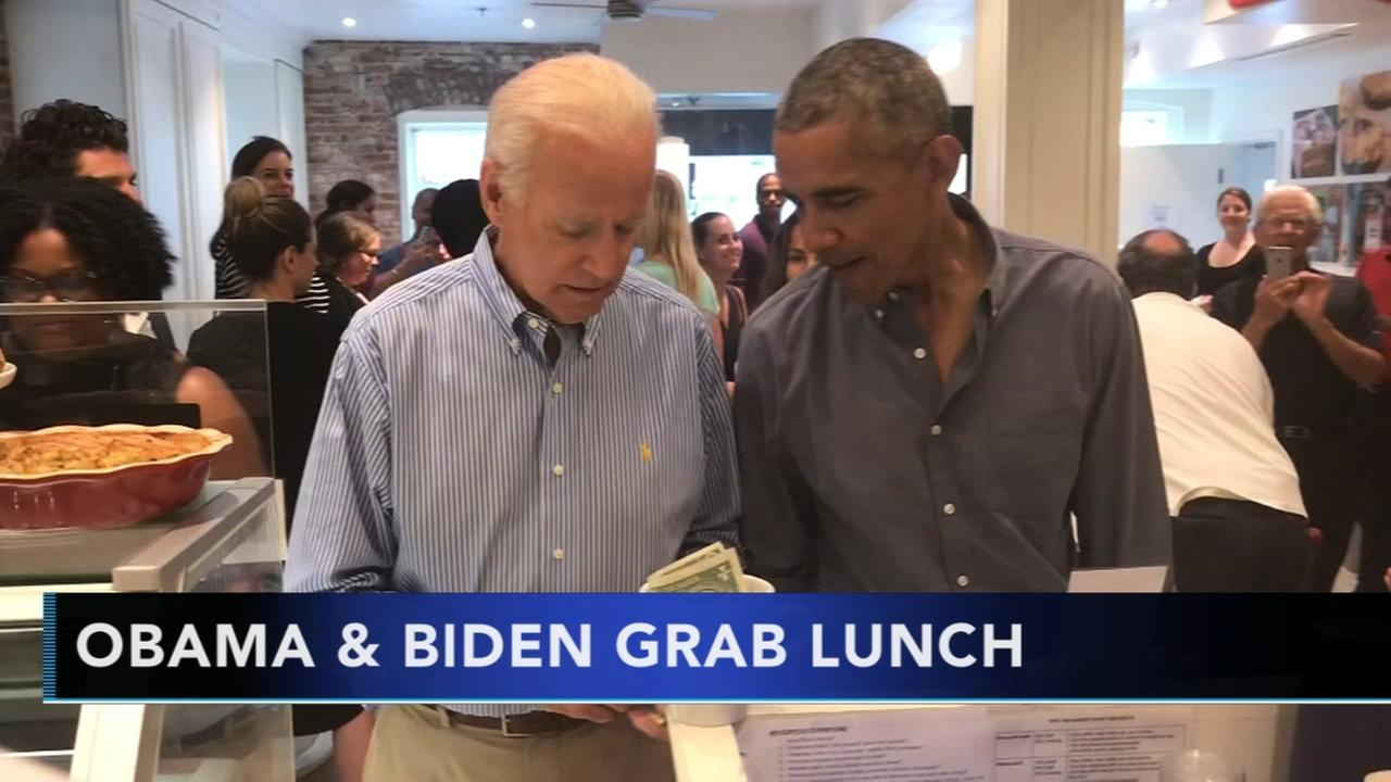 Obama and Biden grab lunch