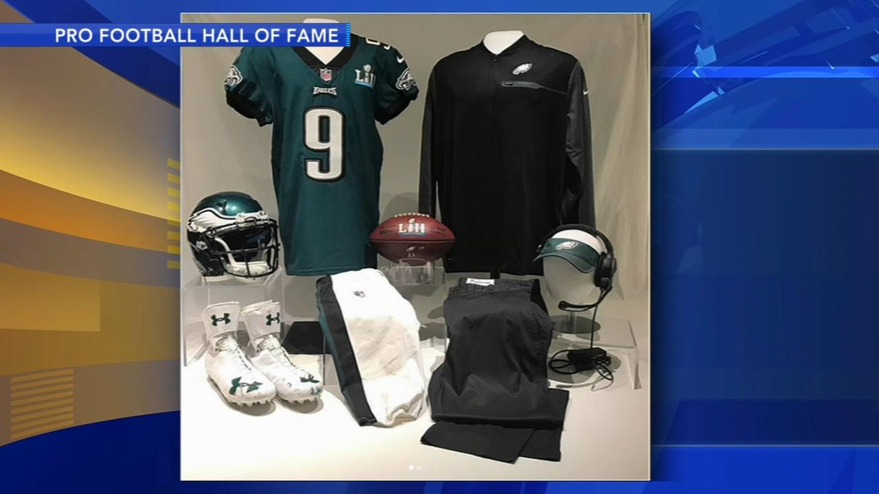 Philly Special exhibit at Football Hall of Fame