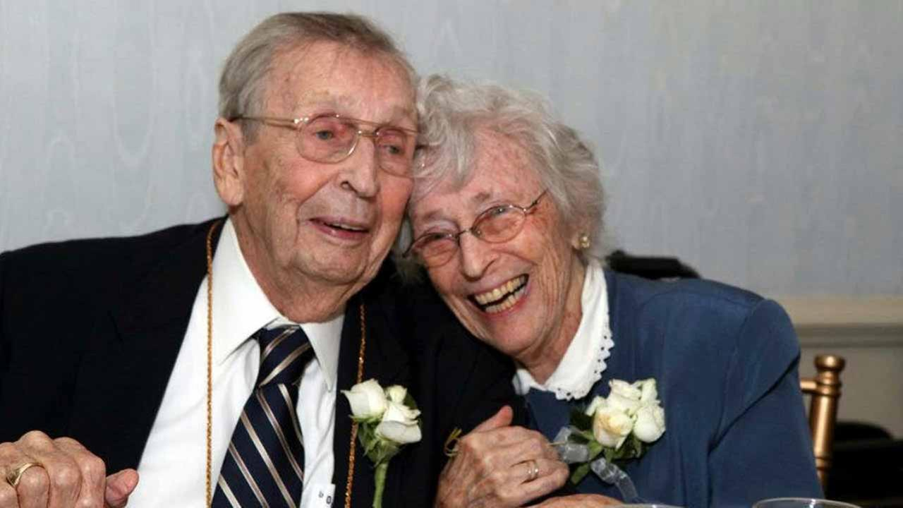 This Sept. 24, 2011 photo shows Gilbert Orzell Drake and Evelyn Bennett Drake at the Albany Country Club in Albany, N.Y.