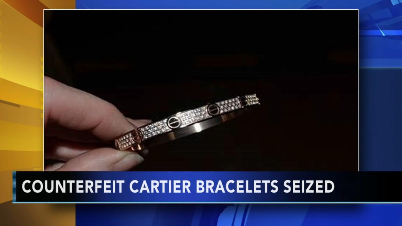 Agents confiscate fake Cartier bracelets at Port of Philadelphia