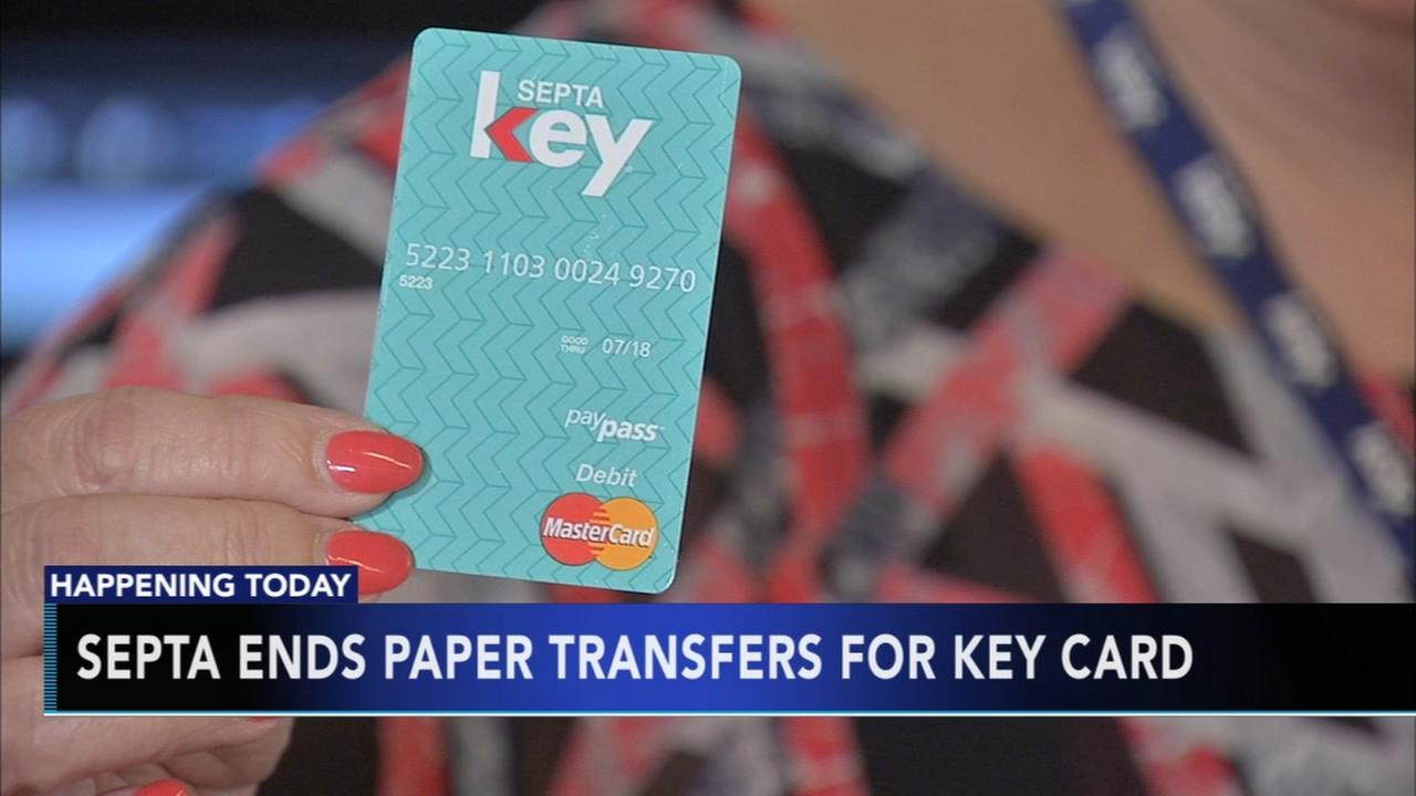 SEPTA ends paper transfers for key card
