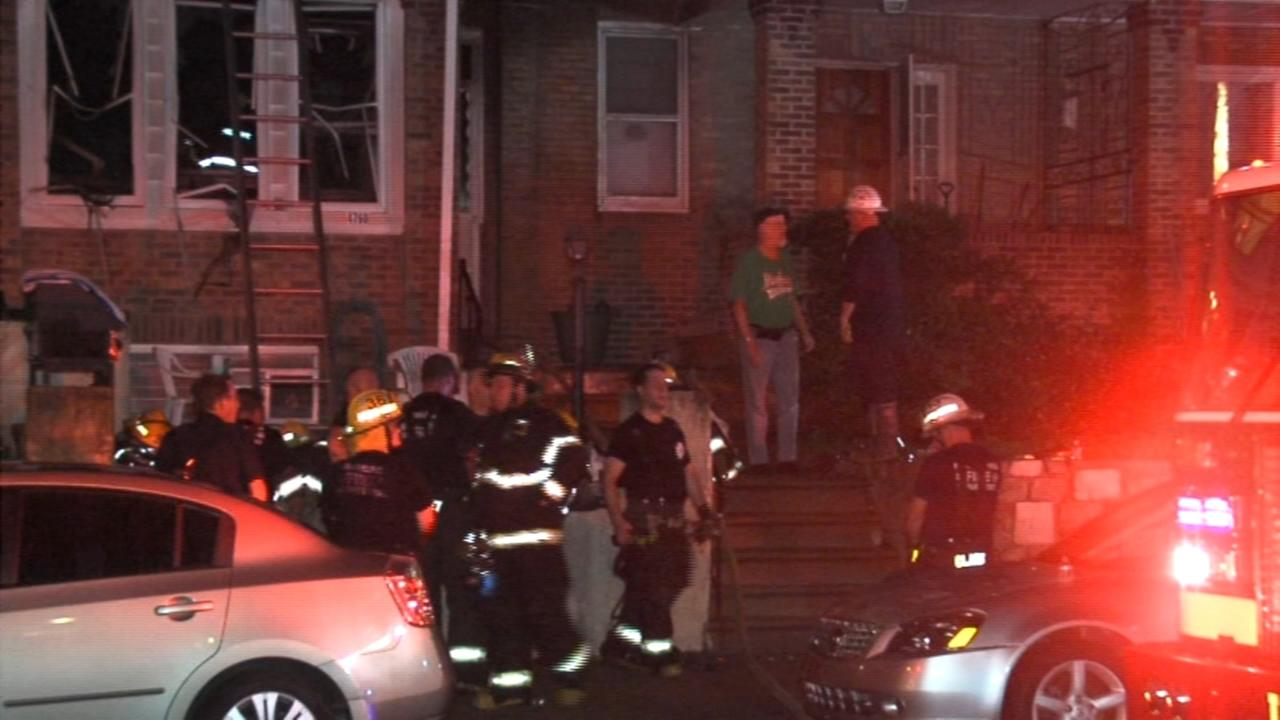 Elderly woman injured in Holmesburg fire