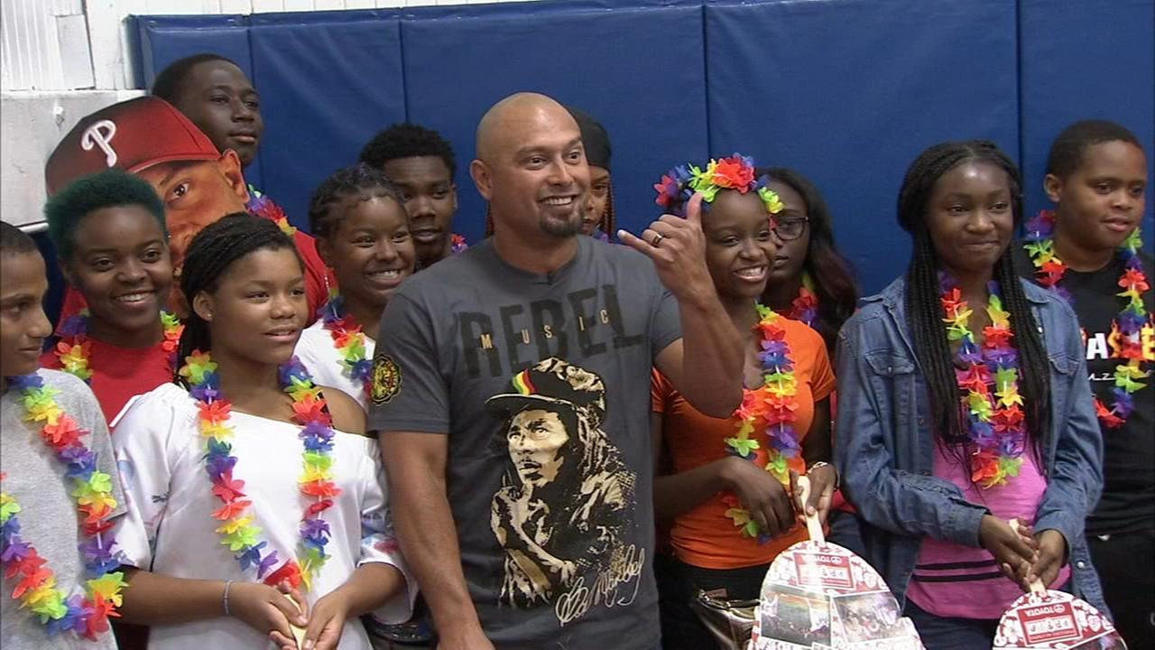 Shane Victorino visits Boys and Girls Club in Nicetown