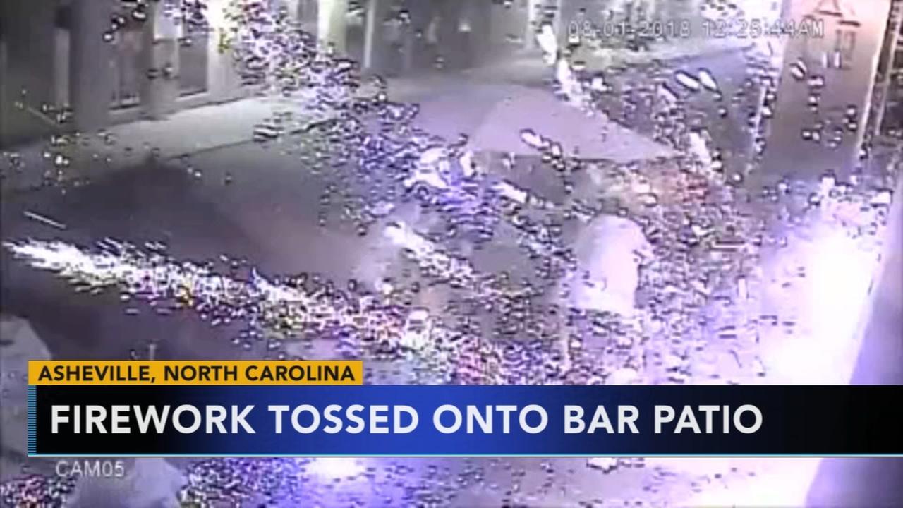 Firework tossed onto bar N.C. bar patio