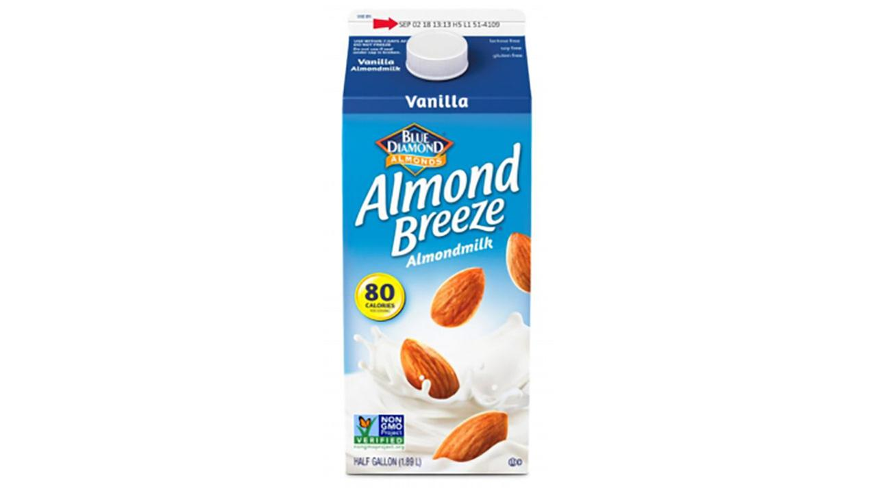 Vanilla Almond Breeze almond milk recalled, may contain milk