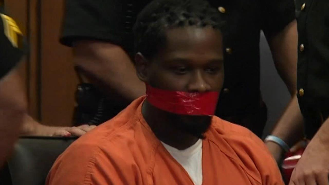 VIDEO: Judge orders inmates mouth taped shut
