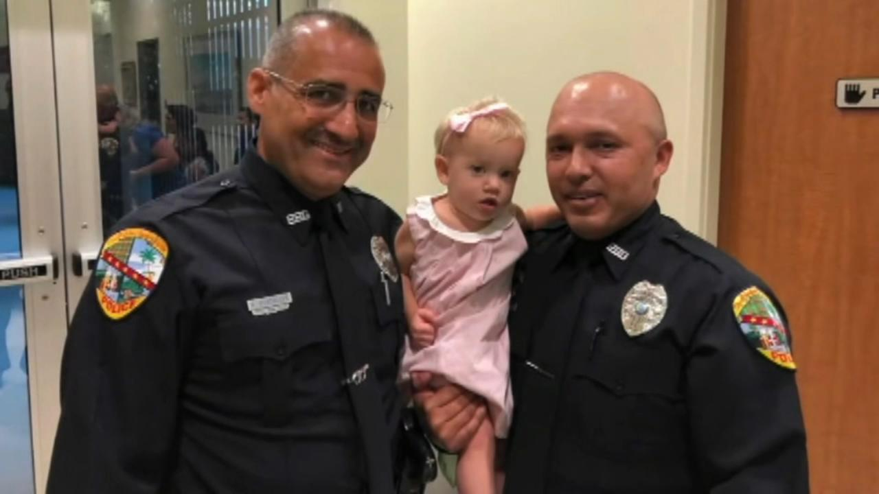 Florida officers jump into action to save baby girl who was choking