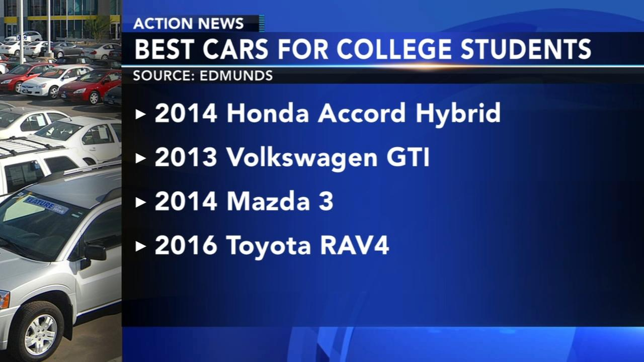 Edmunds releases list of best used cars for college students