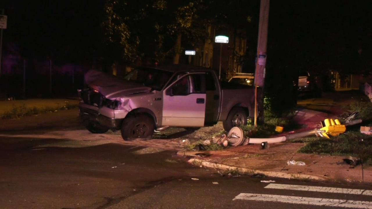 3 hospitalized after collision in North Philadelphia