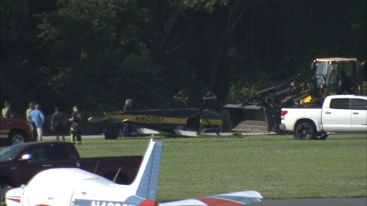 Pilot survives rough landing in Burlington County