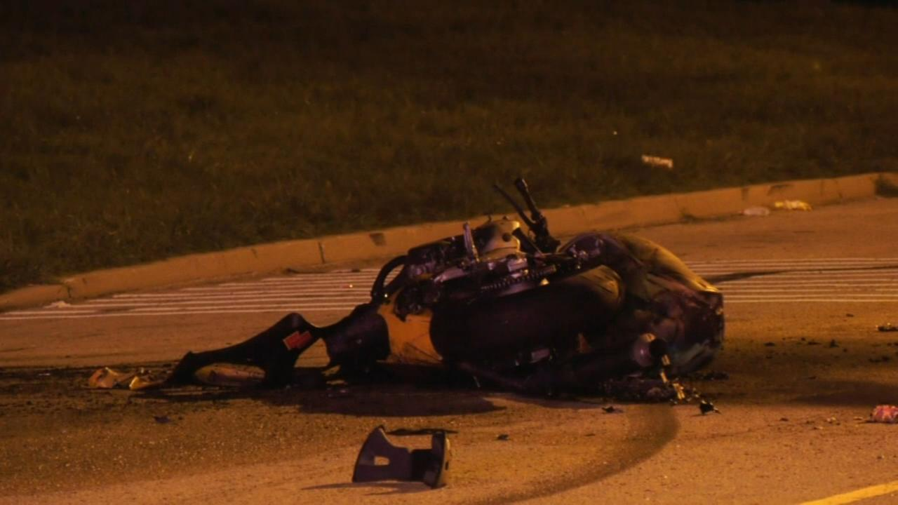 Motorcyclist killed after colliding with car that was allegedly street racing