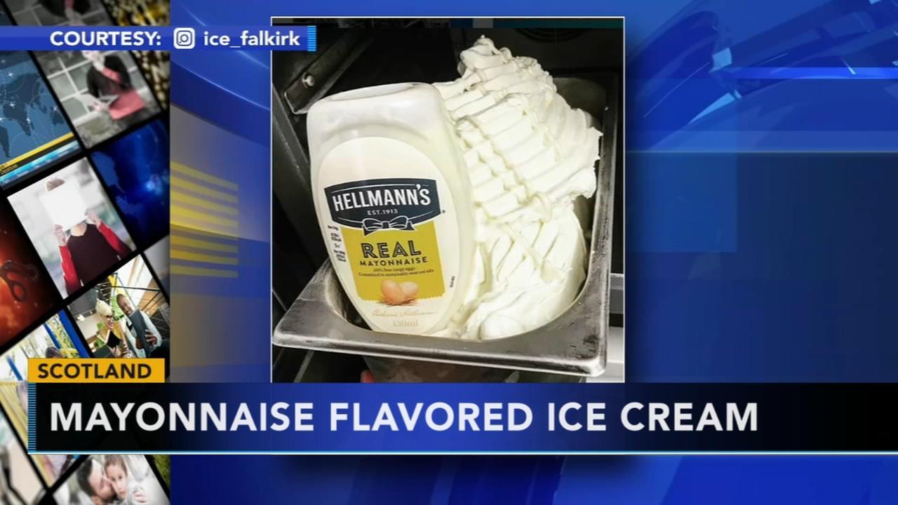 Scotland ice cream parlor debuts mayo-flavored ice cream