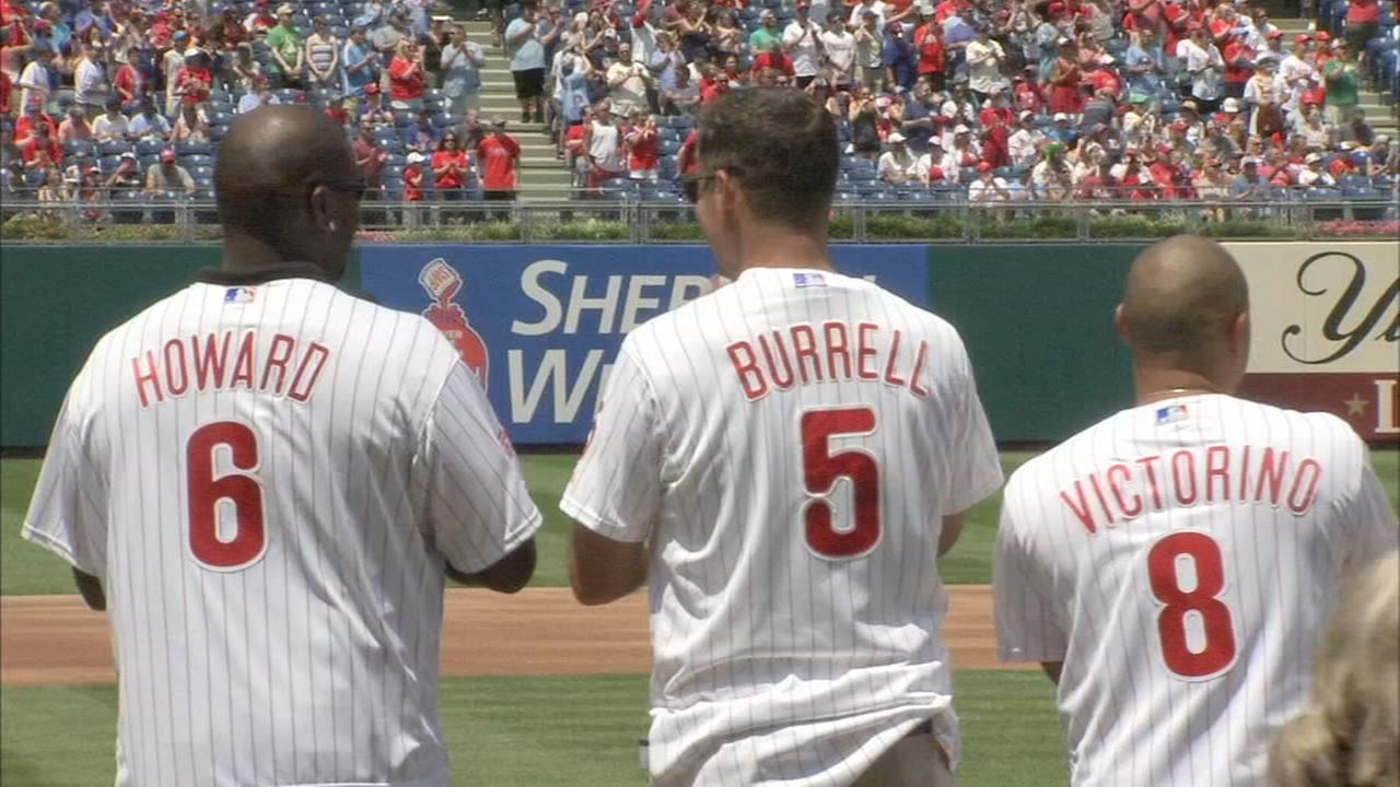 2008 Phillies championship team honored before game