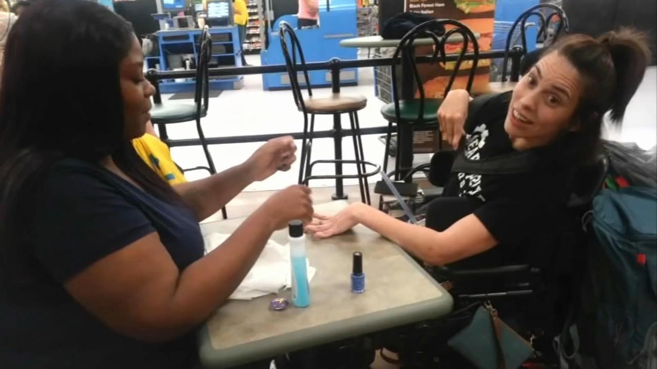 Walmart worker steps in when nail salon turns away special needs woman