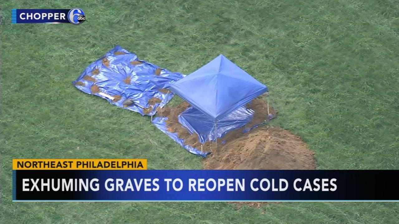 Agencies exhuming graves in Northeast Philadelphia to reopen cold cases