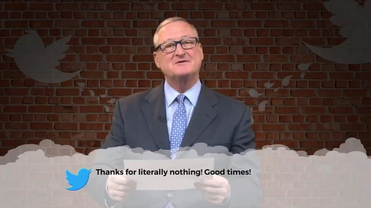 Mayor Jim Kenney celebrates birthday reading Mean Tweets