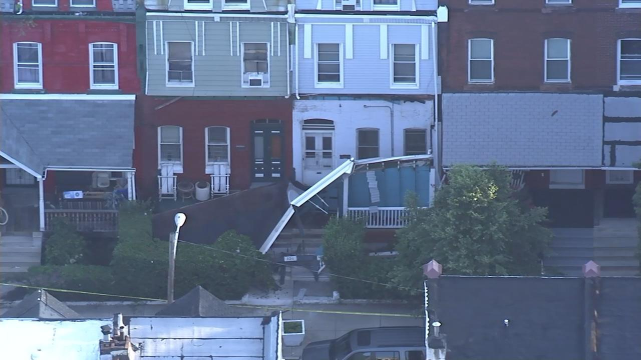 Porch partially collapses in Strawberry Mansion