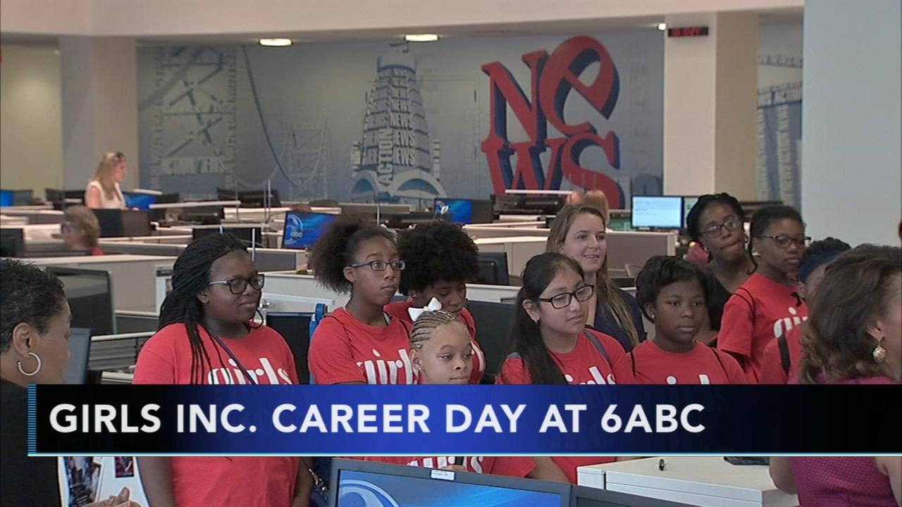 Girls Incorporated tours 6ABC studios