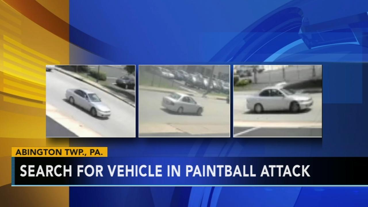 Search for vehicle in paintball attack in Abington Township