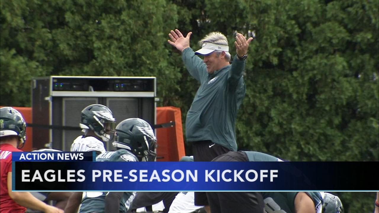 Eagles gear up for first preseason game against the Steelers