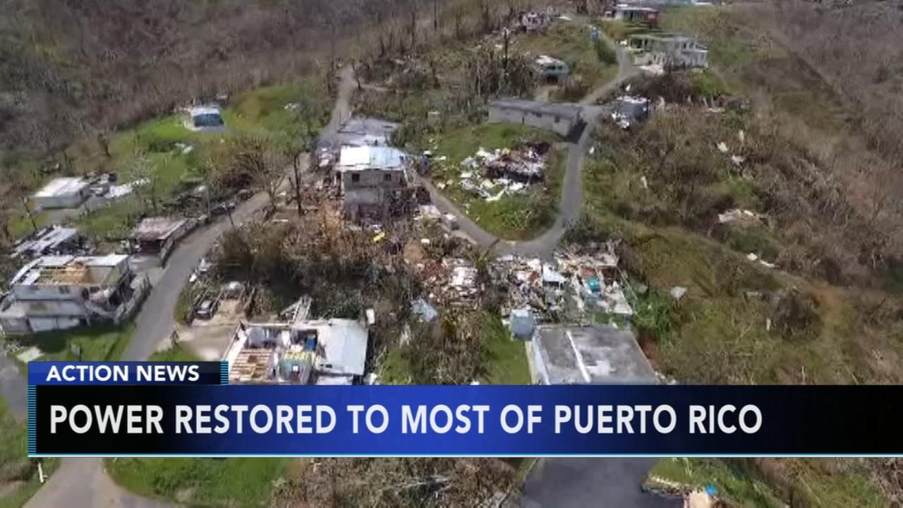 Power restored to nearly all residents of Puerto Rico