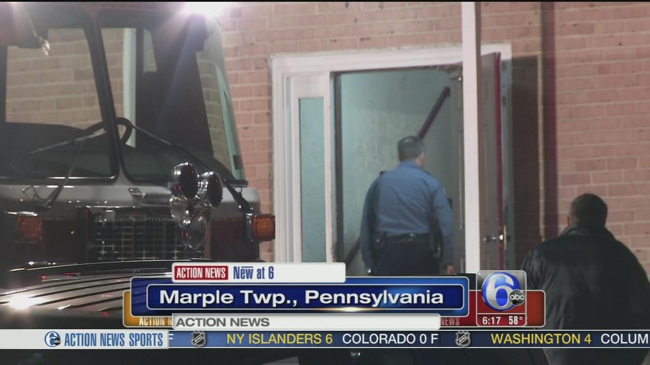 VIDEO: Blaze forces residents from Delaware Co. apartments