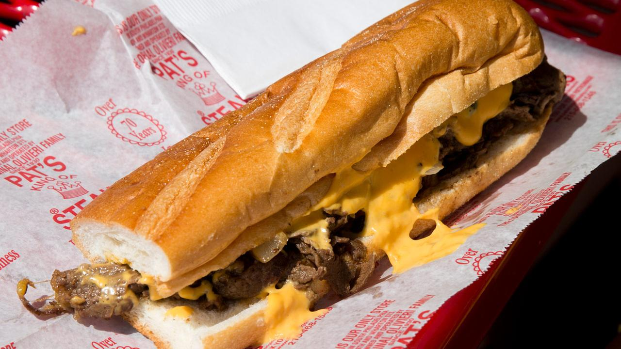 FILE: A cheesesteak at Pats King of Steaks sits on a table.