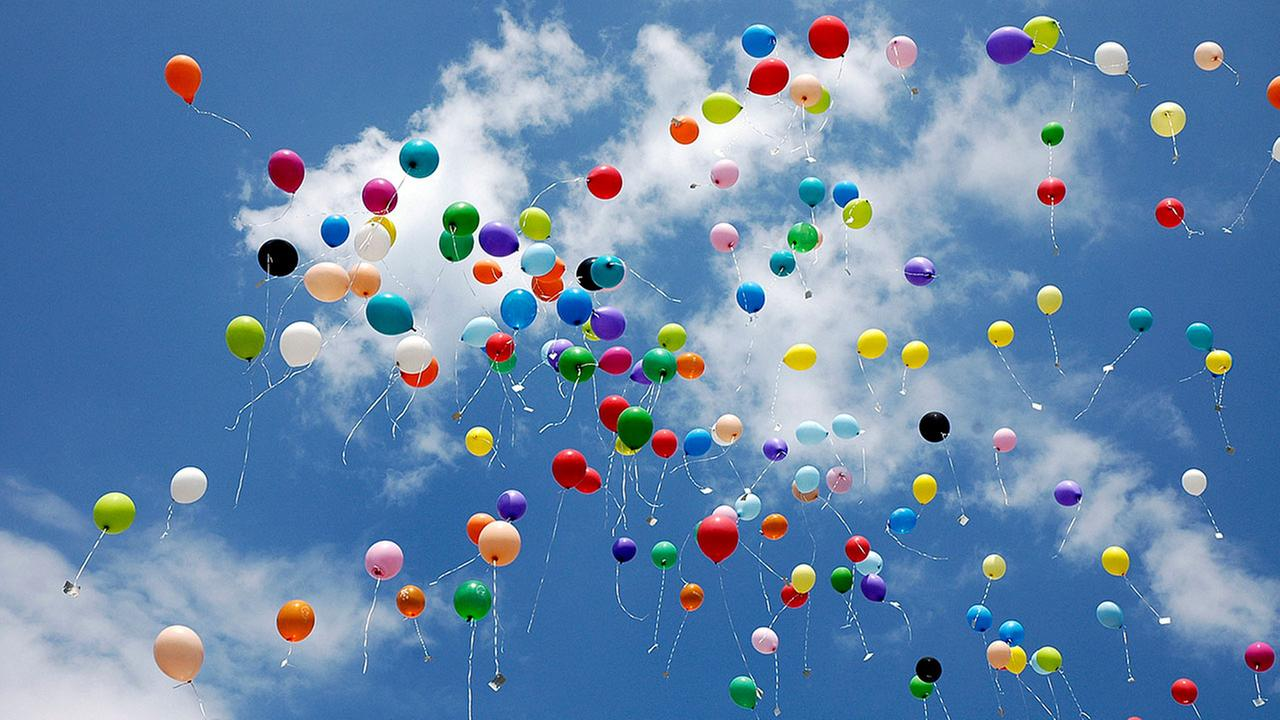 iStock photo of a balloon release