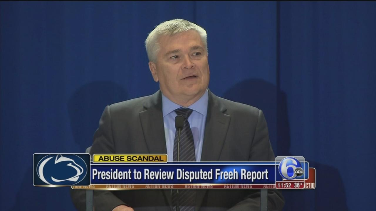 VIDEO: Penn State president to review report on Sandusky scandal