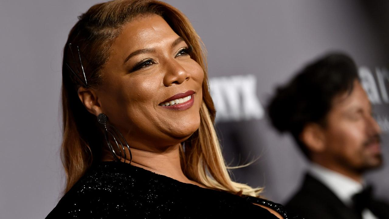 Queen Latifah attends the 2018 Fashion Week amfAR Gala New York at Cipriani Wall Street on Wednesday, Feb. 7, 2018, in New York.