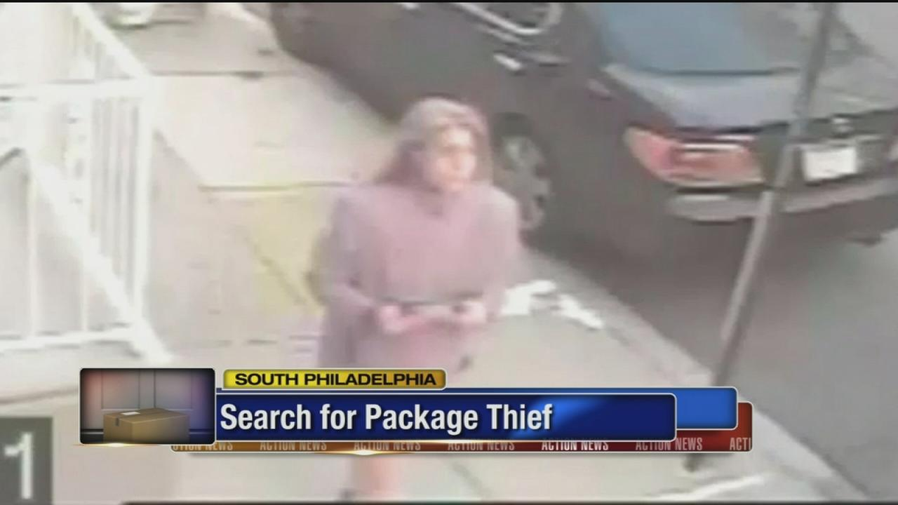 VIDEO: Package thief in South Philadelphia