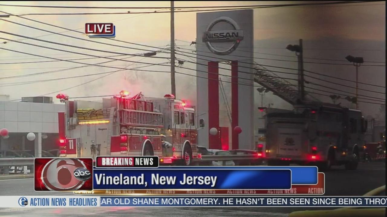 Fire erupts in car dealership in Vineland | 6abc.com