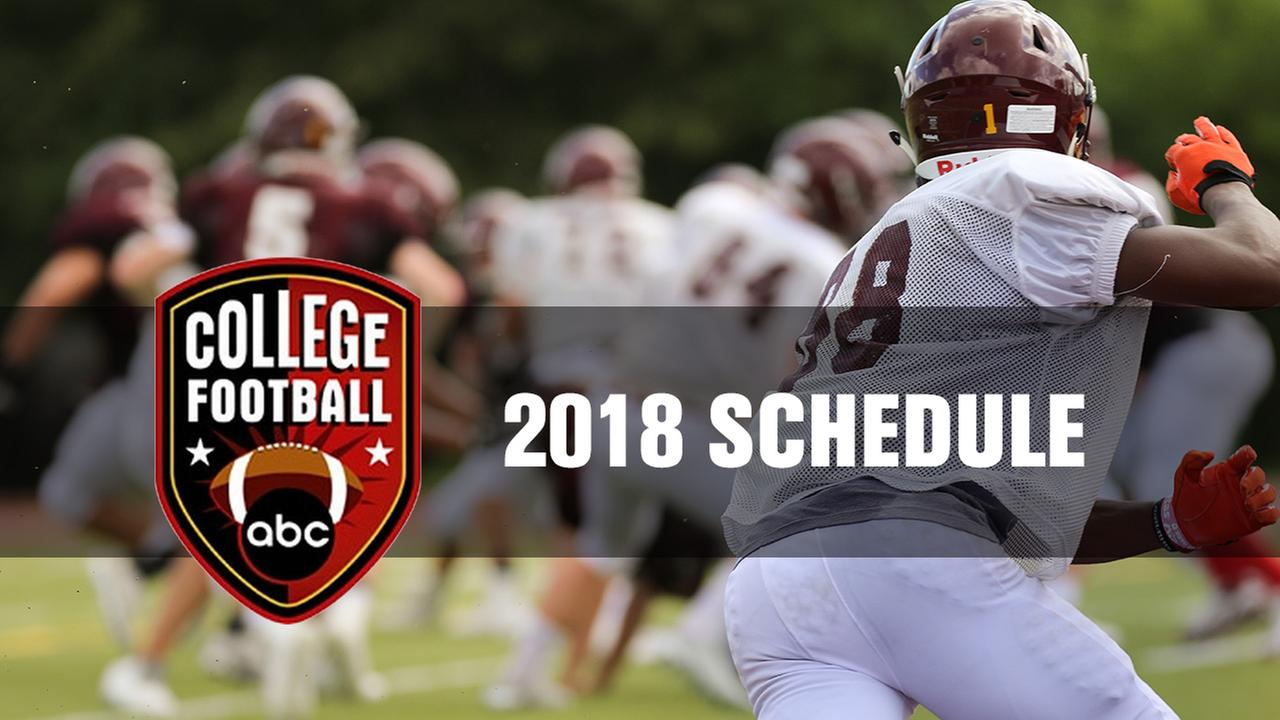 College Football Schedule on 6abc, Live Well Network